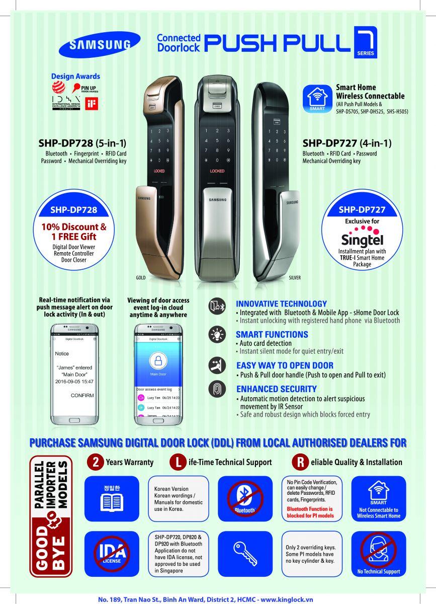 Khóa cửa thẻ từ Samsung