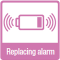 Low battery warning signal: When battery replacement time approaches, a melody rings whenever the door opens, providing safety reminds and greater convenience.