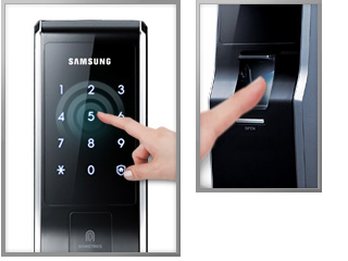 Dual password and fingerprint scanning input: Double Authentication Mode: With the Double Authentication Mode setting, home security is strengthened and allows for greater security access. Door opening access requires two authentication verifications; both password and fingerprint system input therefore it is safer and more secure. ※ It is imperative that while the Double Authentication Mode is on, you do not forget the password.