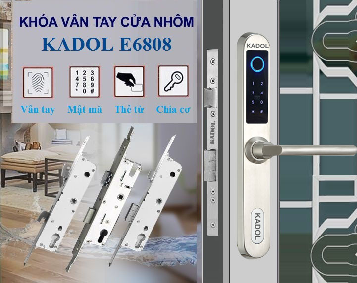 Khóa vân tay cửa nhôm Kadol E6808