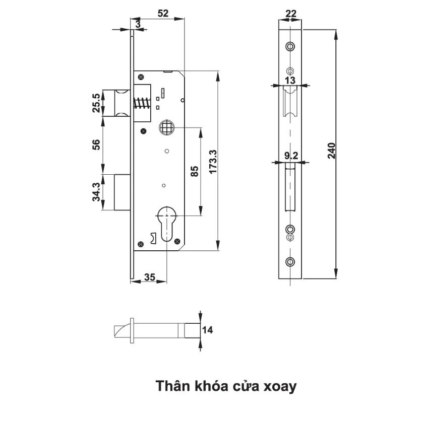 Khoá vân tay cửa nhôm Hafele EL6500-TCS 912.20.122