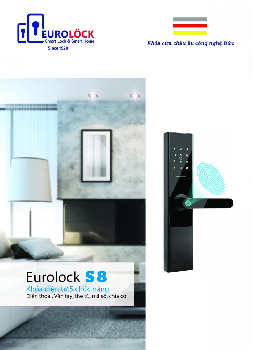 Khóa vân tay EUROLOCK S8