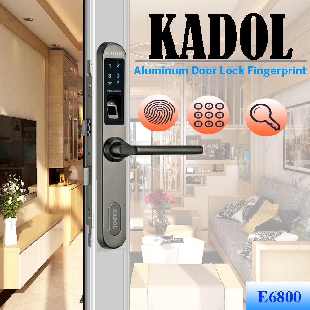 Khóa vân tay cửa nhựa lõi thép Kadol E6800