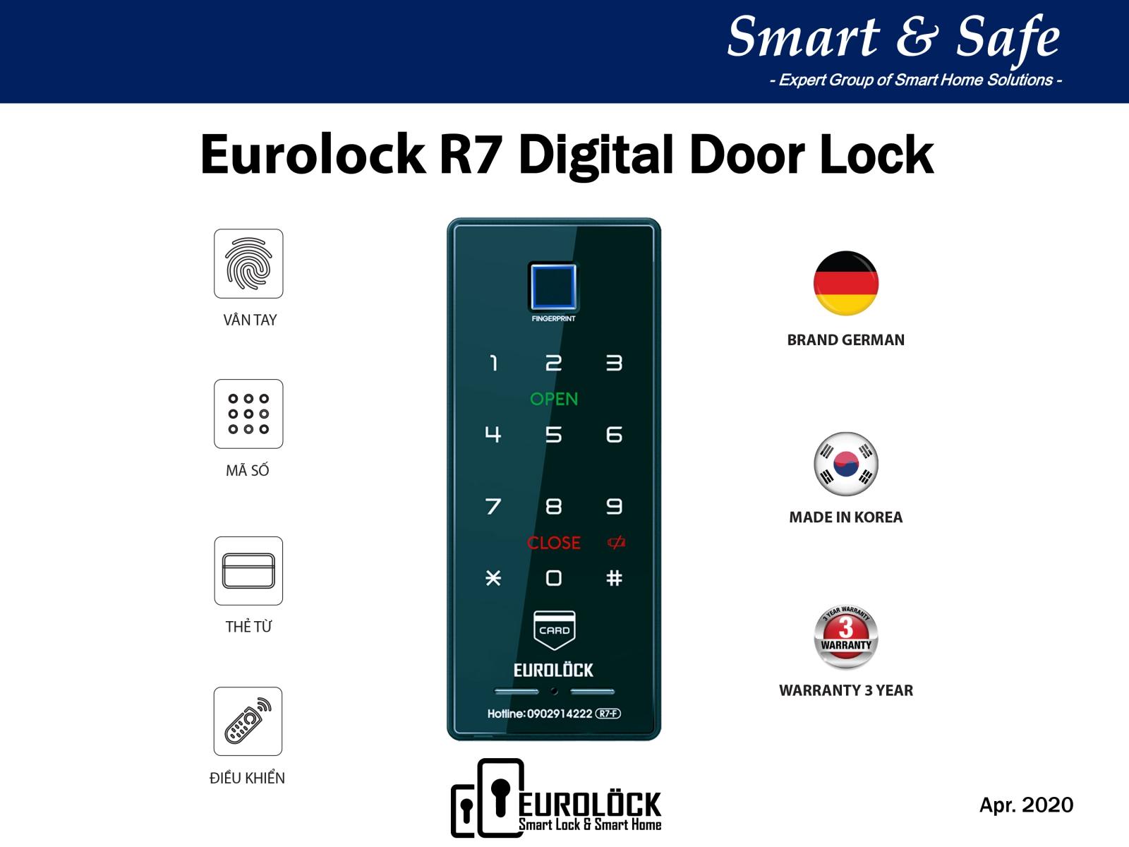 Khóa vân tay EUROLOCK R7-F