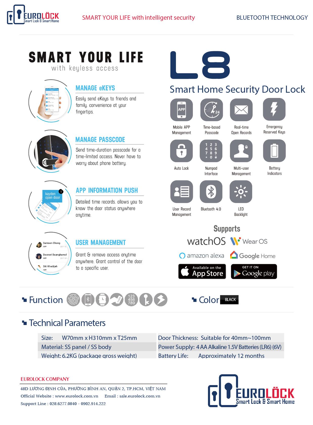 Khóa điện tử Airbnb Eurolock L8