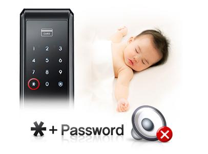Chế độ cách cho một cuộc đi chơi đêm yên tĩnh: Bất kỳ người tiêu dùng có nhu cầu cho một cuộc đi chơi đêm mà không cần phải đánh thức các thành viên khác trong gia đình như trẻ em và trẻ sơ sinh, các tính năng Chế độ cách là giải pháp, nơi nó tạm thời chặn cửa âm thanh hoạt động.  ※ Trước khi vào báo mật khẩu [*] nút, các chế độ Manner sẽ được kích hoạt để loại bỏ bất kỳ âm thanh kỹ thuật số cho các hoạt động cửa khẩu (password keying âm thanh, tin nhắn bằng giọng nói, vv) tạm thời.