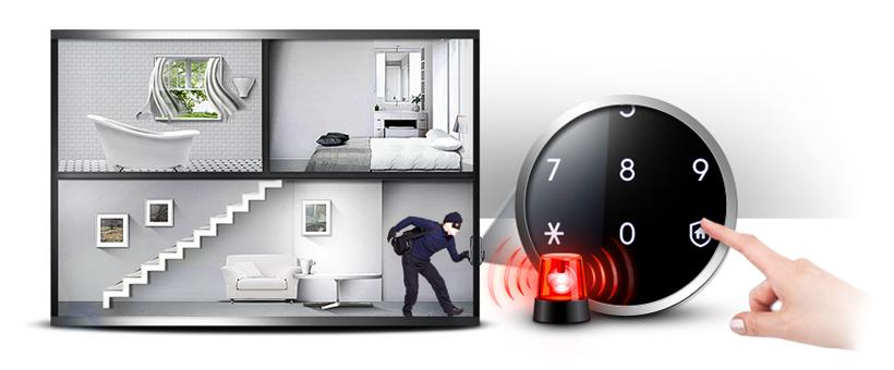 Phòng chống Intruder tính năng với ONE Touch: Với một đơn giản One Touch của nút