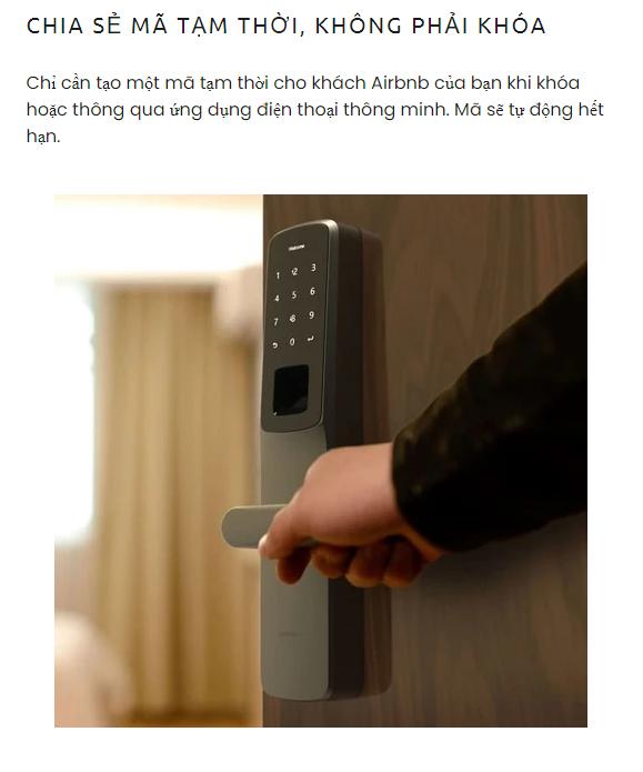 Khóa điện tử vân tay mở cửa từ xa wifi ULTRALOQ UL300